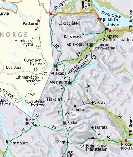 Kungsleden Nikkaluokta - Abisko
