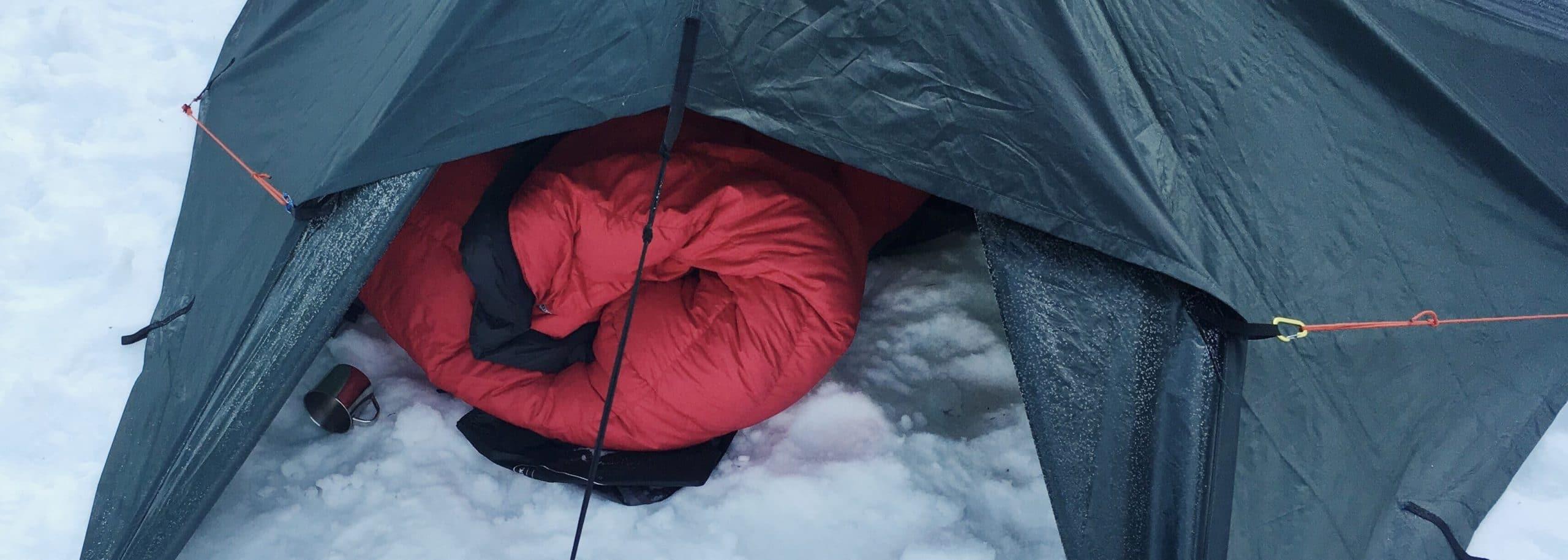 Winter tarp setup