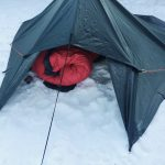 Tarp setup for winter (and bad weather)